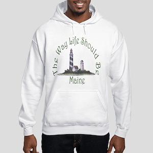 Maine State Motto Hooded Sweatshirt