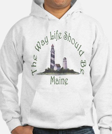 Maine State Motto Hoodie