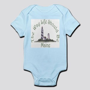 Maine State Motto Infant Bodysuit