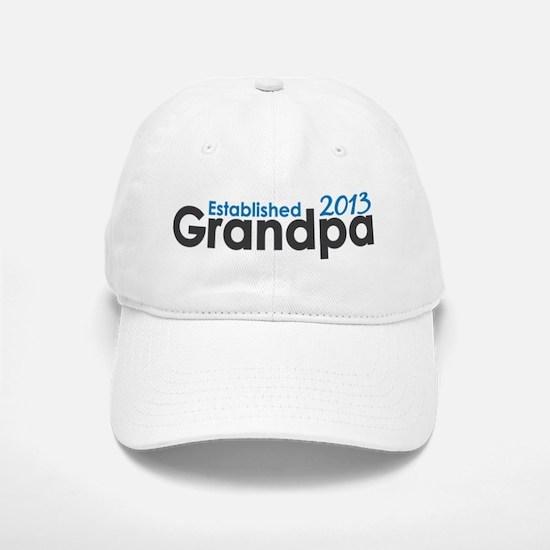 Grandpa Est 2013 Baseball Baseball Cap