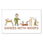 Dances w/ Woofs (male) Sticker