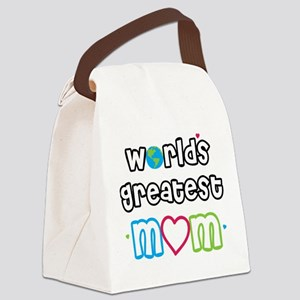 WorldsGreatestMom Canvas Lunch Bag