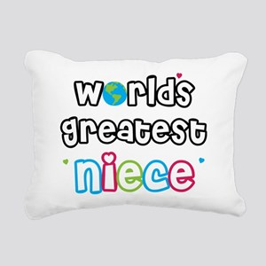 WorldsGreatestNiece Rectangular Canvas Pillow