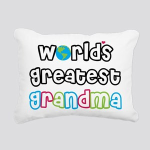 World's Greatest Grandma! Rectangular Canvas Pillo
