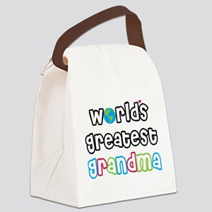 World's Greatest Grandma! Canvas Lunch Bag