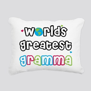 WorldsGreatestGramma Rectangular Canvas Pillow