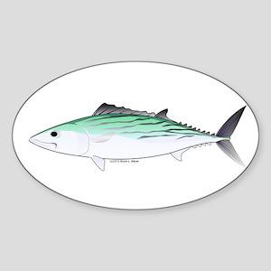 Bonito tuna fish Sticker (Oval)
