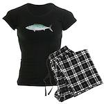 Bonito tuna fish Women's Dark Pajamas