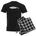 Bonito tuna fish Men's Dark Pajamas