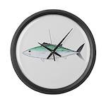 Bonito tuna fish Large Wall Clock