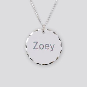 Zoey Paper Clips Necklace Circle Charm