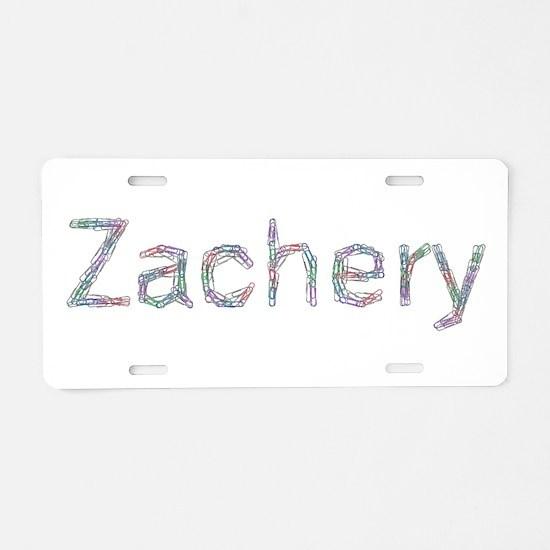 Zachery Paper Clips Aluminum License Plate