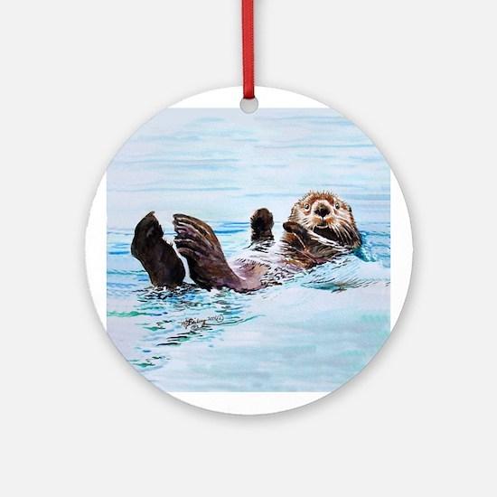 Sea Otter Ornament (Round)
