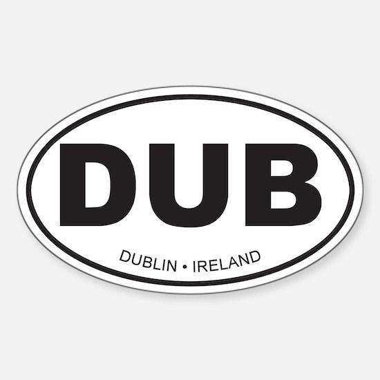 Dublin, Ireland Oval Decal