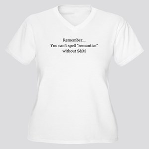 Sexy Semantics Women's Plus Size V-Neck T-Shirt