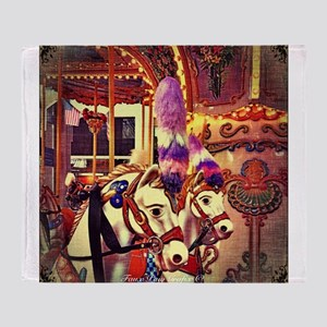 Carousel Horses Throw Blanket