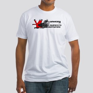 Simple Journeys to Odd Destinations Fitted T-Shirt