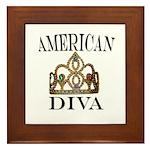 AMERICAN DIVA Framed Tile
