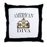 AMERICAN DIVA Throw Pillow