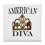 AMERICAN DIVA Tile Coaster