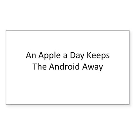 An Apple a Day Keeps the Android Away Sticker (Rec