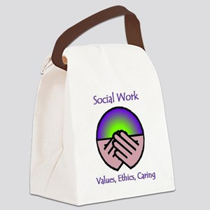 Social Work Values Canvas Lunch Bag