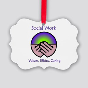 Social Work Values Picture Ornament