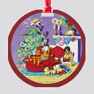 WAITING FOR SANTA! Round Ornament