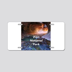 Zion National Park Aluminum License Plate