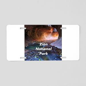 Zion National Park Aluminum License Plate