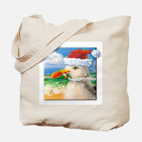 Sammy Seagull Holiday Tote Bag