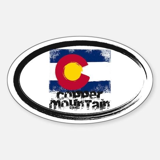 Copper Mountain Grunge Flag Sticker (Oval)