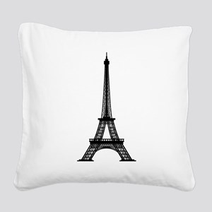 Eiffel Square Canvas Pillow
