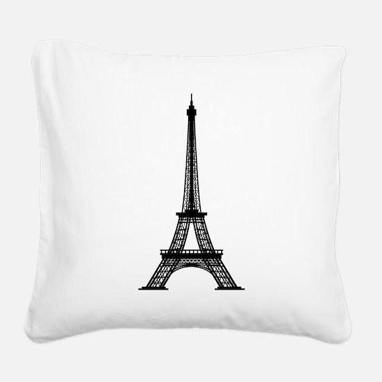 Eiffel Square Canvas Pillow
