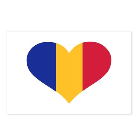 Moldova flag heart Postcards (Package of 8)