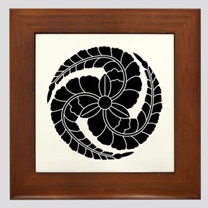 kuroda wisteria Framed Tile