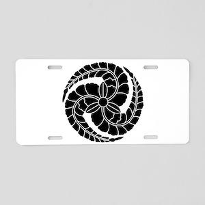 kuroda wisteria Aluminum License Plate