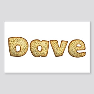 Dave Toasted Rectangle Sticker
