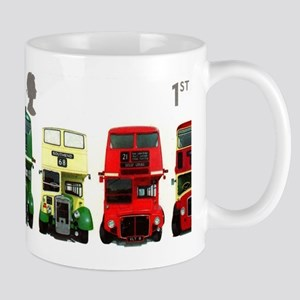 2001 Great Britain Double-decker Bus Stamp Mug