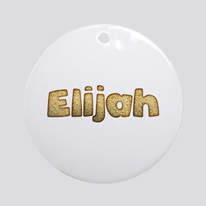 Elijah Toasted Round Ornament
