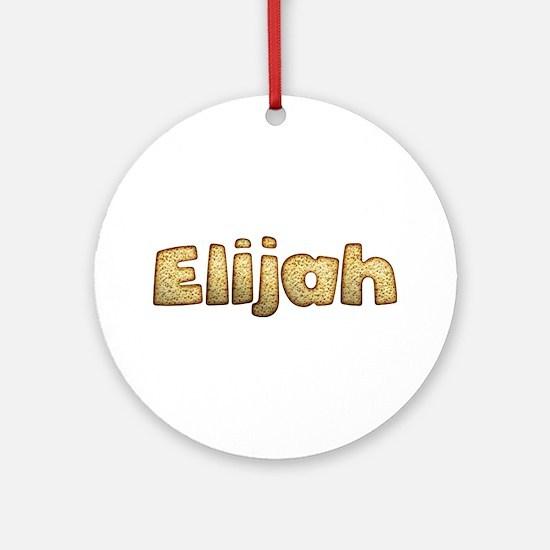 Elijah Toasted Round Ornament