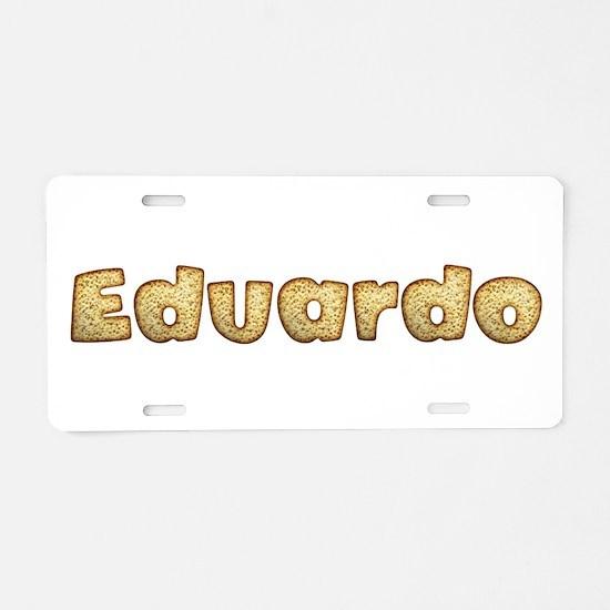 Eduardo Toasted Aluminum License Plate