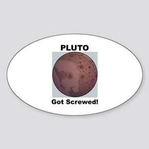 Pluto Victim of Racism Oval Sticker