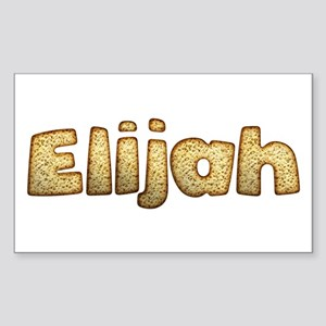 Elijah Toasted Rectangle Sticker