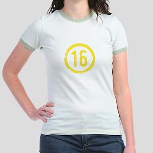 Yellow Solidarity 16 Jr. Ringer T-Shirt