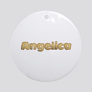 Angelica Toasted Round Ornament