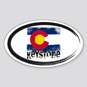 Keystone Grunge Flag Sticker (Oval)