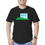 Live Green! Men's Fitted T-Shirt (dark)