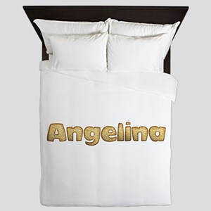 Angelina Toasted Queen Duvet