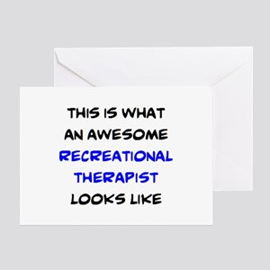 awesome recreational therapist Greeting Card